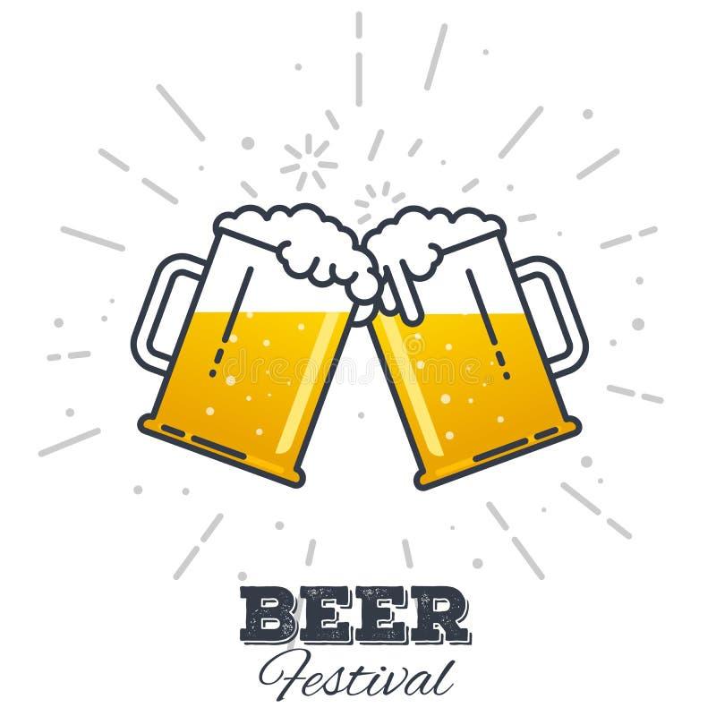Het pictogram van het bierfestival vector illustratie