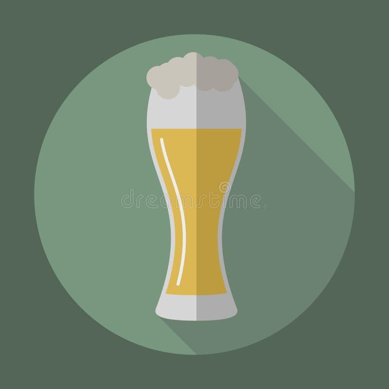 Het pictogram van het bierglaswerk stock illustratie