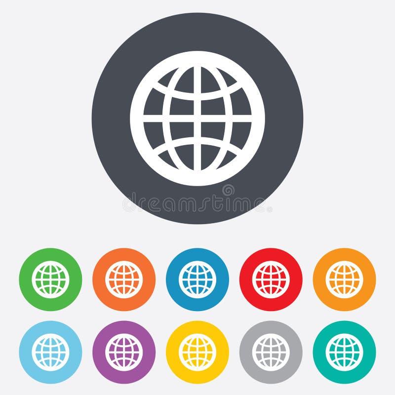 Het pictogram van het bolteken. Wereldsymbool. royalty-vrije illustratie