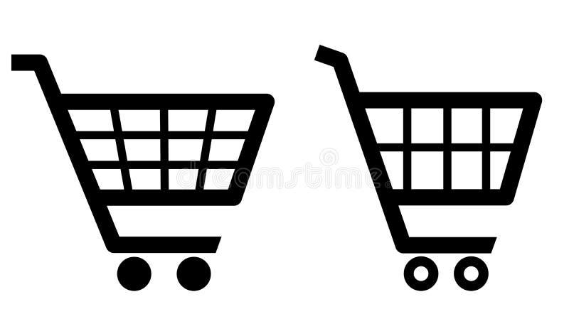 Het pictogram van het boodschappenwagentje stock illustratie