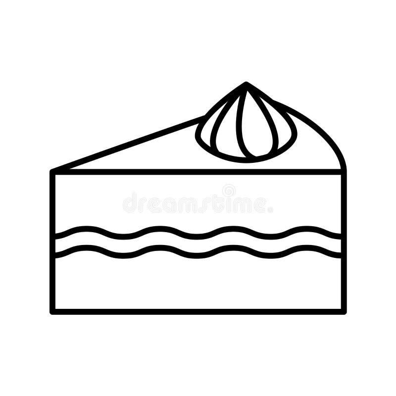 Het pictogram van het cakeoverzicht vector illustratie