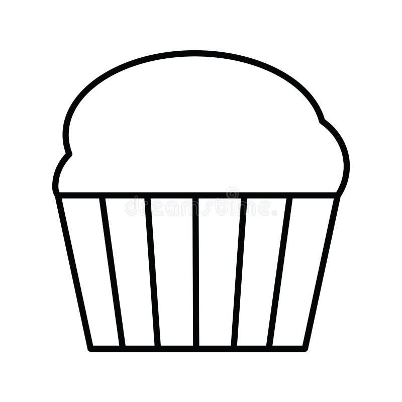 Het pictogram van het Cupcakeoverzicht royalty-vrije illustratie