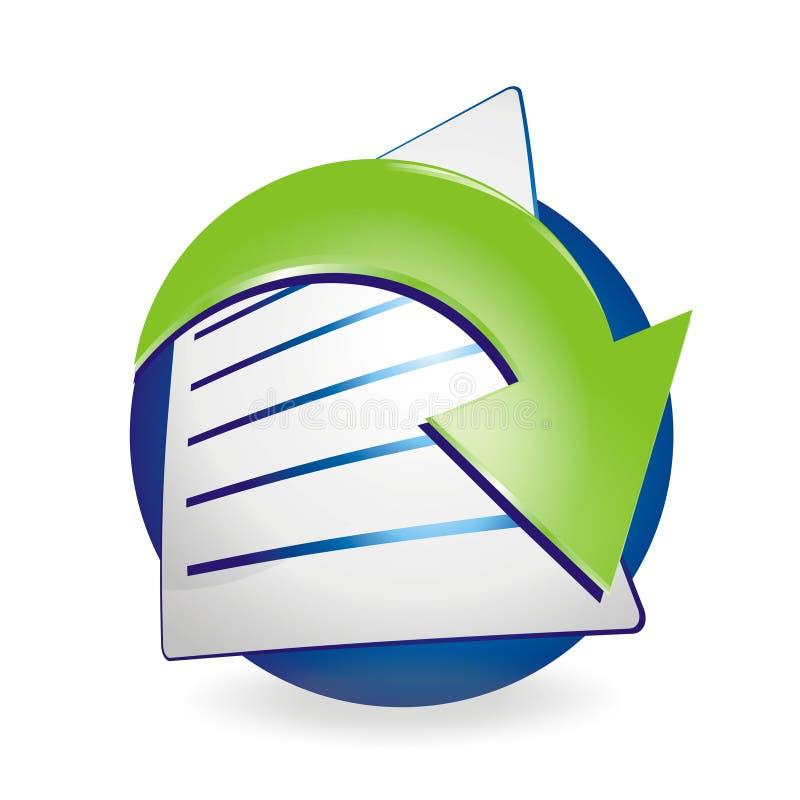 Het Pictogram van het Document van de download stock illustratie