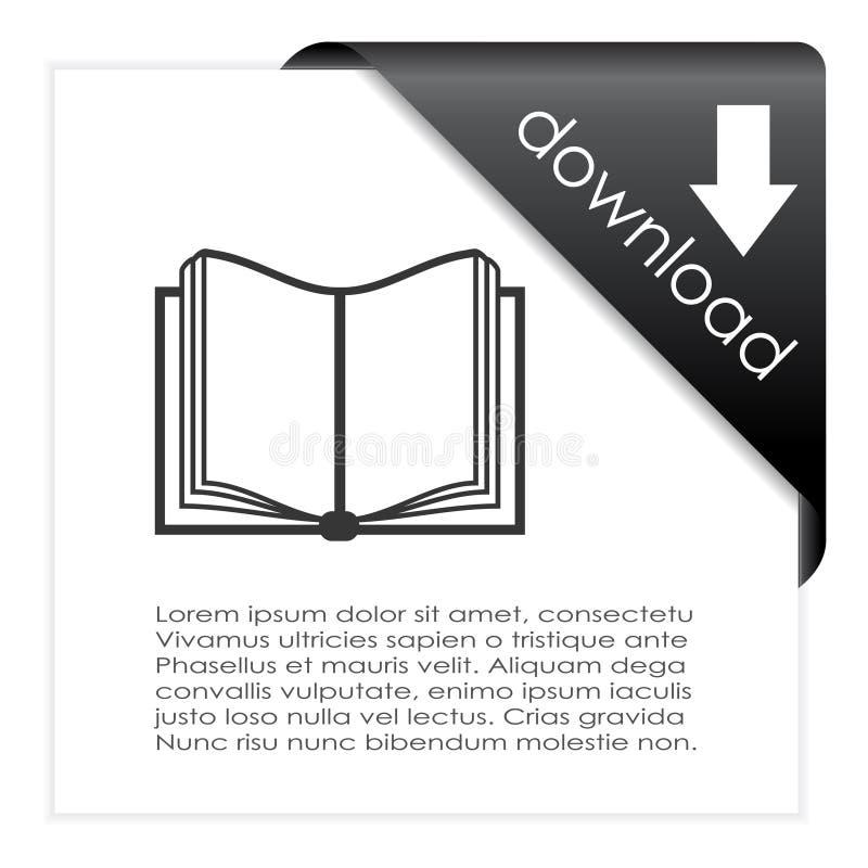 Het pictogram van het downloadboek royalty-vrije illustratie