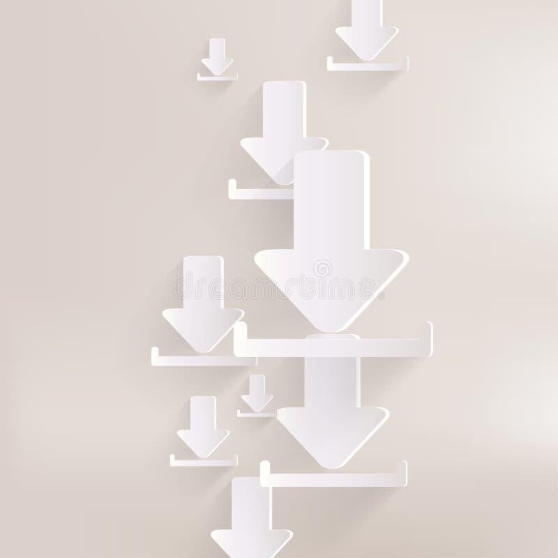 Het pictogram van het downloadweb royalty-vrije illustratie