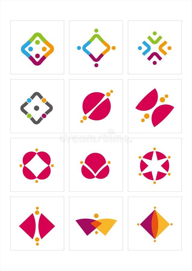 Het pictogram van het embleem stock illustratie