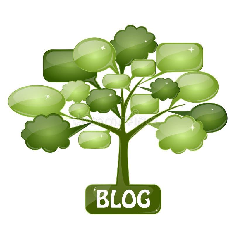 Het pictogram van het glas voor blog stock illustratie