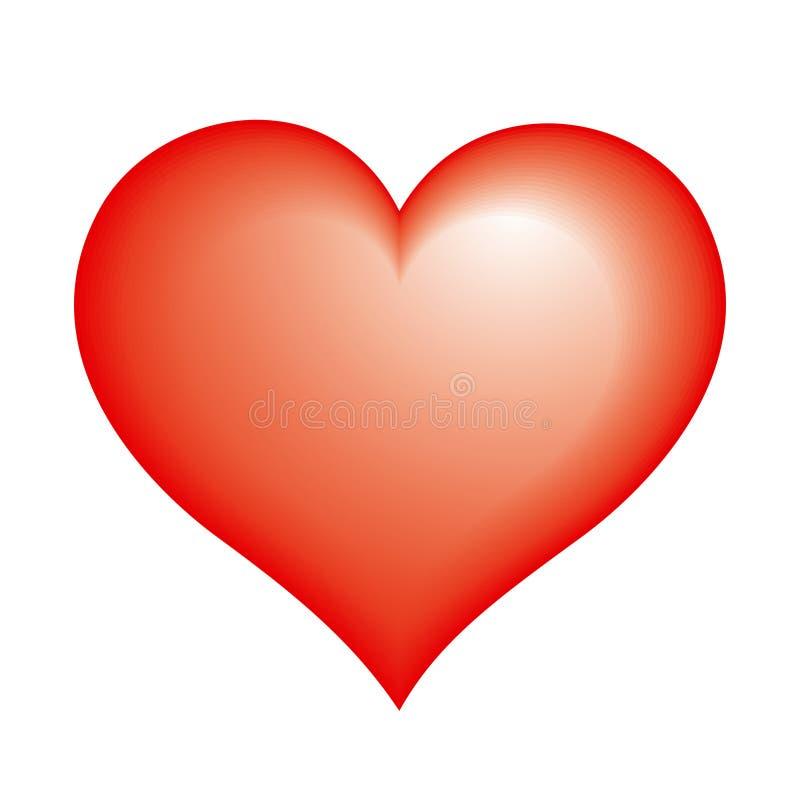 Het pictogram van het hart royalty-vrije illustratie