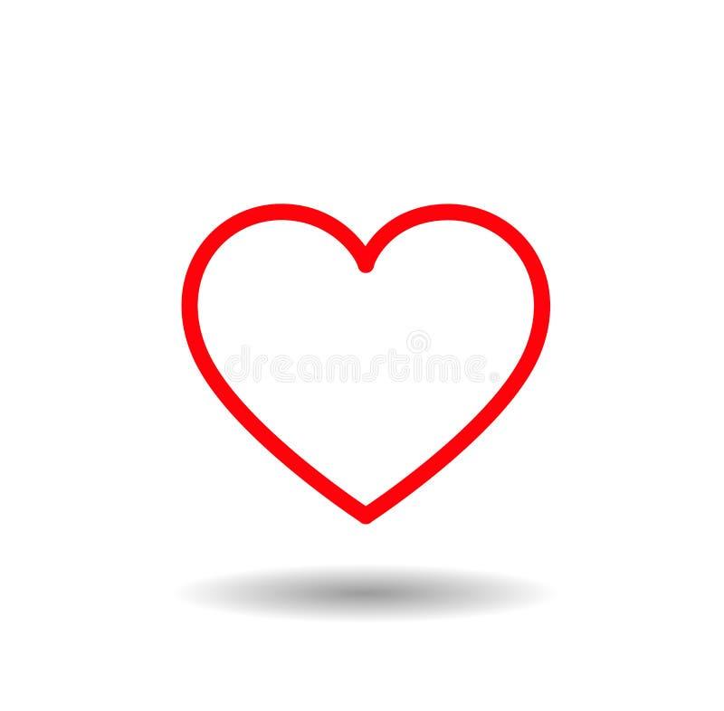 Het Pictogram van het hart Rode gevoerde harten met liefde royalty-vrije stock foto