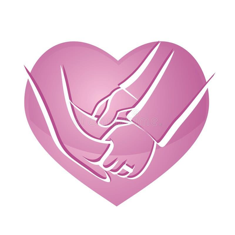 Het Pictogram van het Hart van de Geloften van het huwelijk vector illustratie