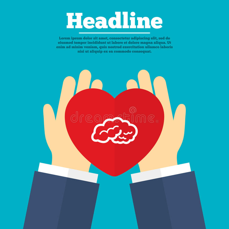 Het pictogram van het hersenenteken Intelligente slimme mening royalty-vrije illustratie