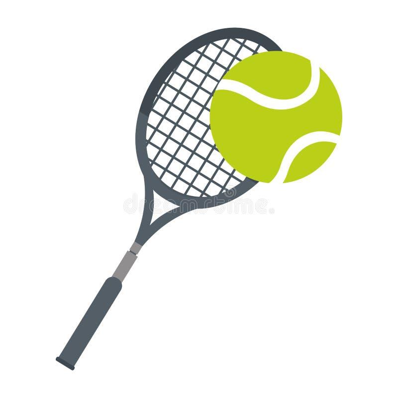 het pictogram van het het tennismateriaal van de racketbal vector illustratie