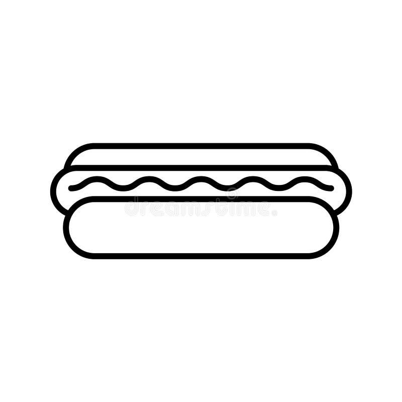 Het pictogram van het hotdogoverzicht stock illustratie