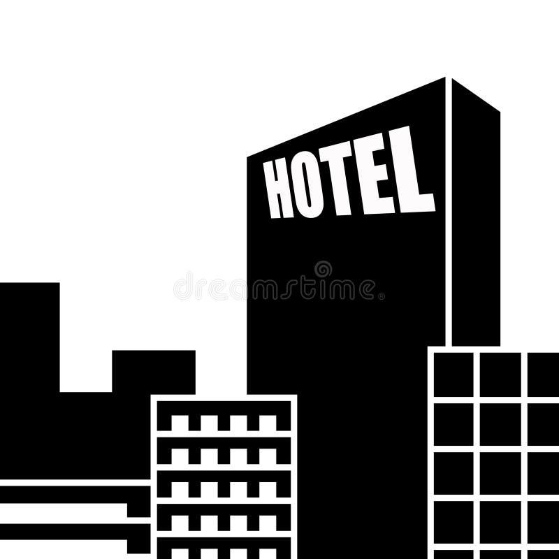 Het pictogram van het hotel stock illustratie