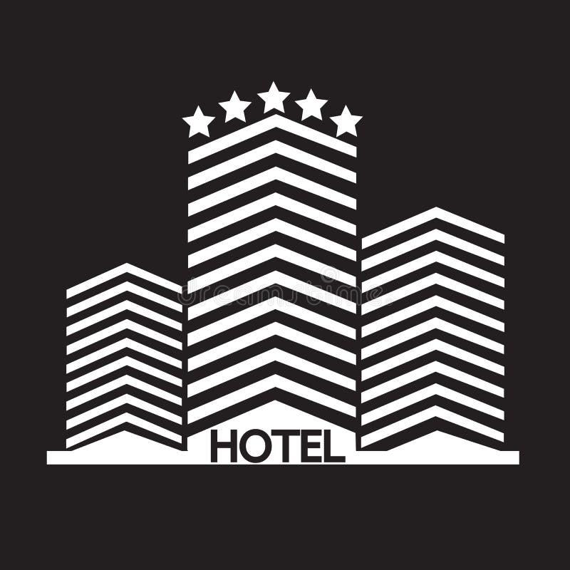 Het pictogram van het hotel royalty-vrije illustratie