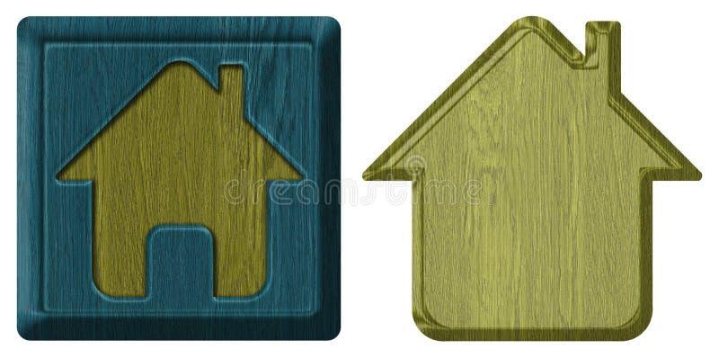 Het pictogram van het huis royalty-vrije stock fotografie