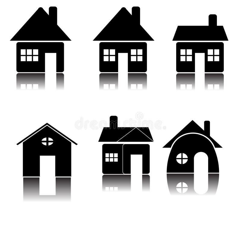 Download Het Pictogram Van Het Huis (vector) Vector Illustratie - Illustratie bestaande uit huishouden, verbonden: 10783607