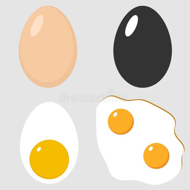 Het pictogram van het kippenei vector illustratie