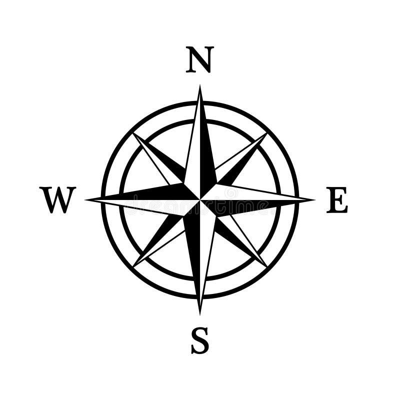 Het pictogram van het kompas royalty-vrije stock afbeeldingen