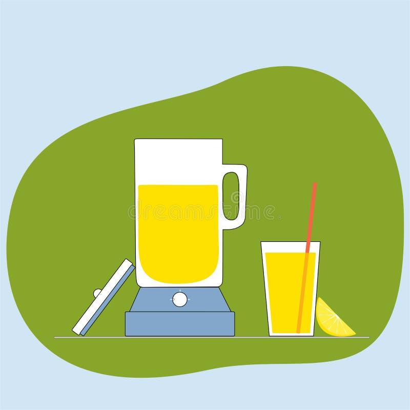 Het pictogram van het limonadesap Vlakke vectorillustratie stock foto's