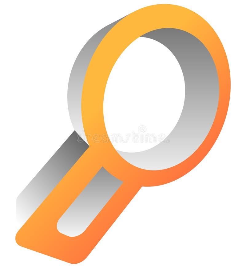 Het pictogram van het Magnfierglas Het gezoem, onderzoekt, onderzoek, raadpleging, onderzoek naar vector illustratie