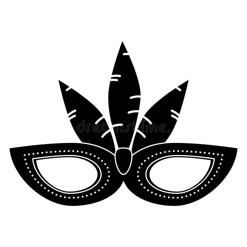 Het pictogram van het maskerveren van Brazilië Carnaval vector illustratie