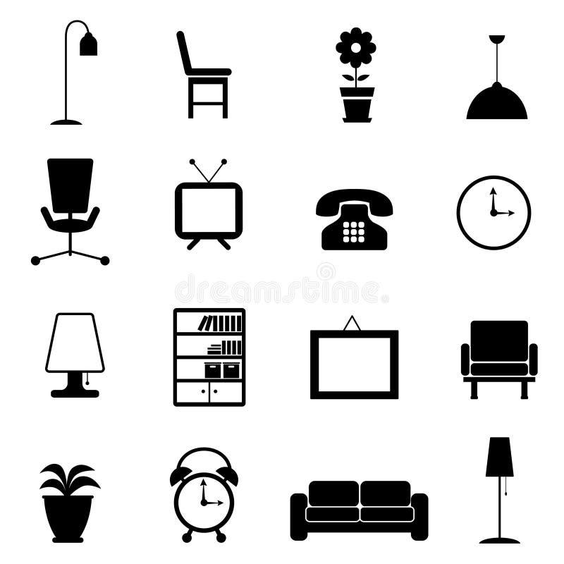 Het pictogram van het meubilair stock illustratie