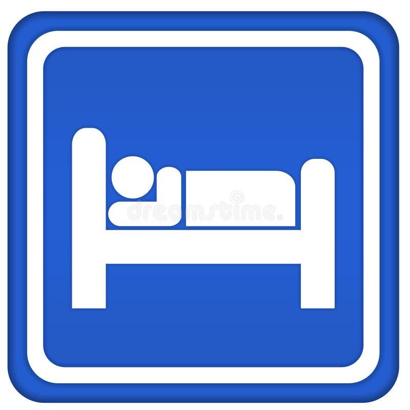Het pictogram van het motel vector illustratie