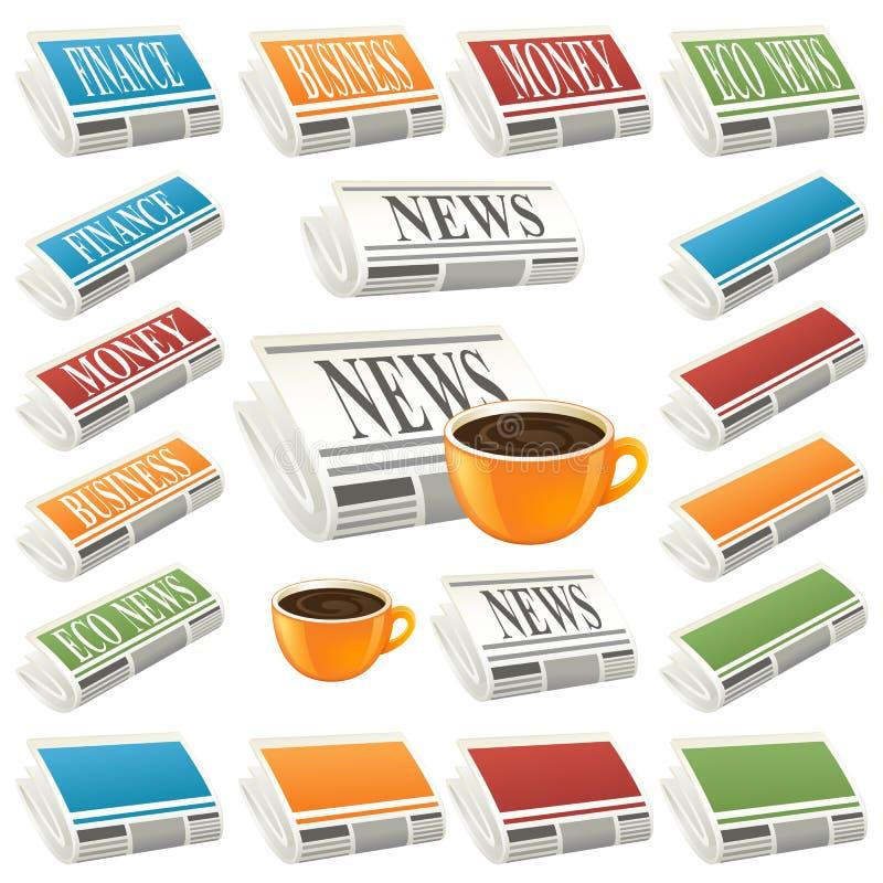Het pictogram van het nieuws