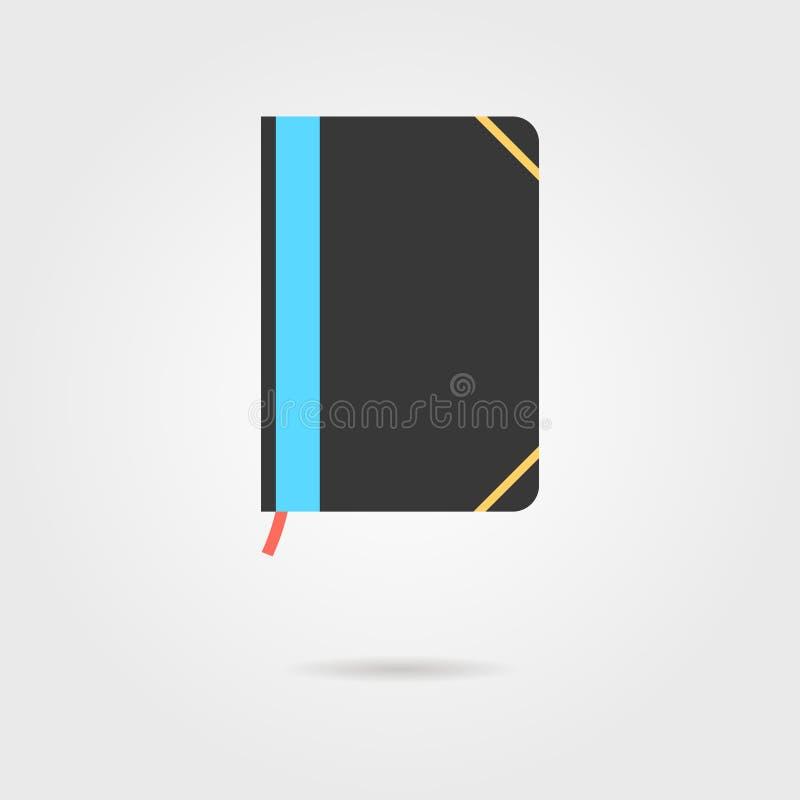 Het pictogram van het notaboek met schaduw vector illustratie