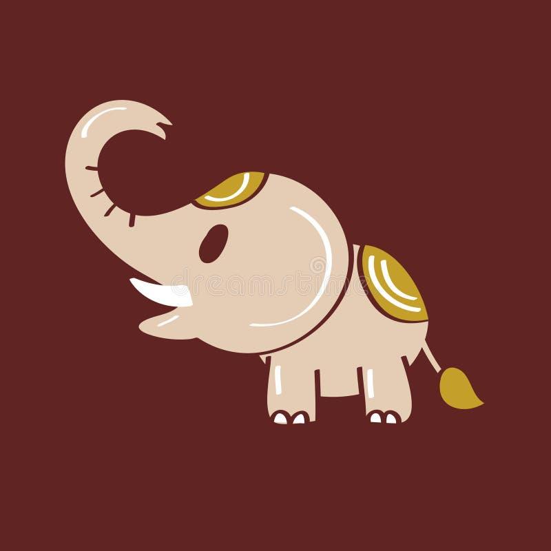 Download Het Pictogram Van Het Olifantsbeeldverhaal Vector Illustratie - Illustratie bestaande uit laughing, dancing: 54082722