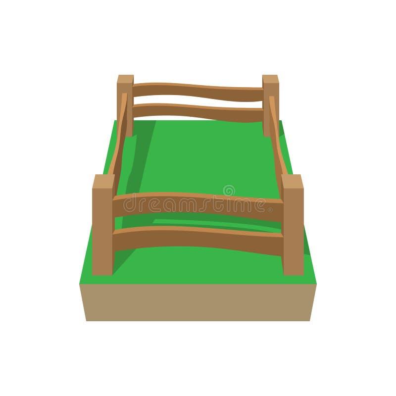Het pictogram van het paddockbeeldverhaal vector illustratie
