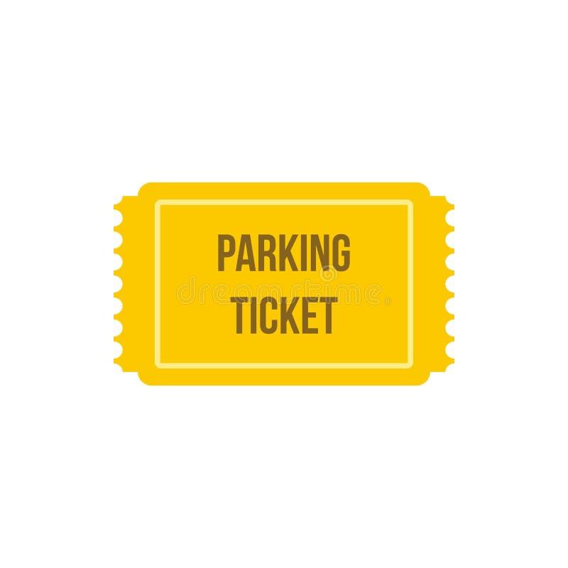 Het pictogram van het parkerenkaartje, vlakke stijl royalty-vrije illustratie