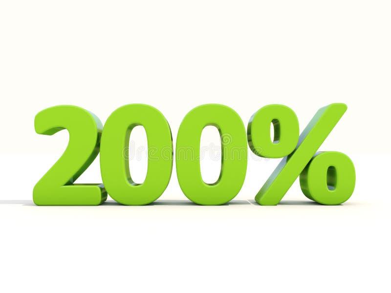 200% het pictogram van het percentagetarief op een witte achtergrond royalty-vrije stock afbeeldingen