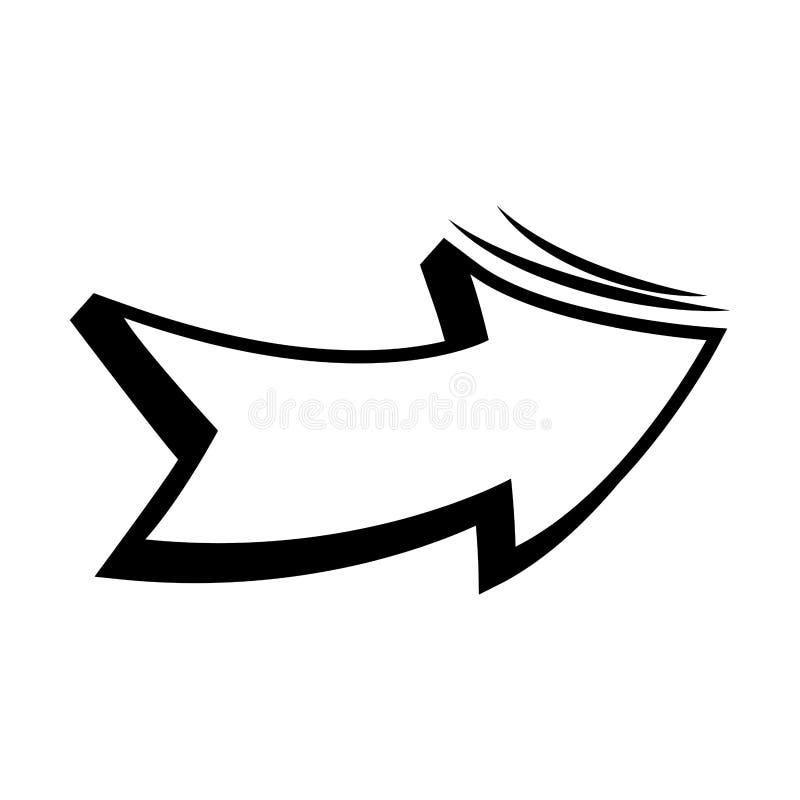 het pictogram van het pijlpop-art vector illustratie