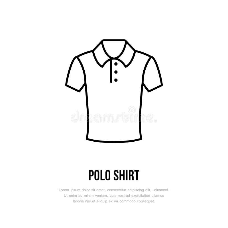 Het pictogram van het polooverhemd, het kledende embleem van de winkellijn Vlak teken voor kledingsinzameling Logotype voor wasse vector illustratie