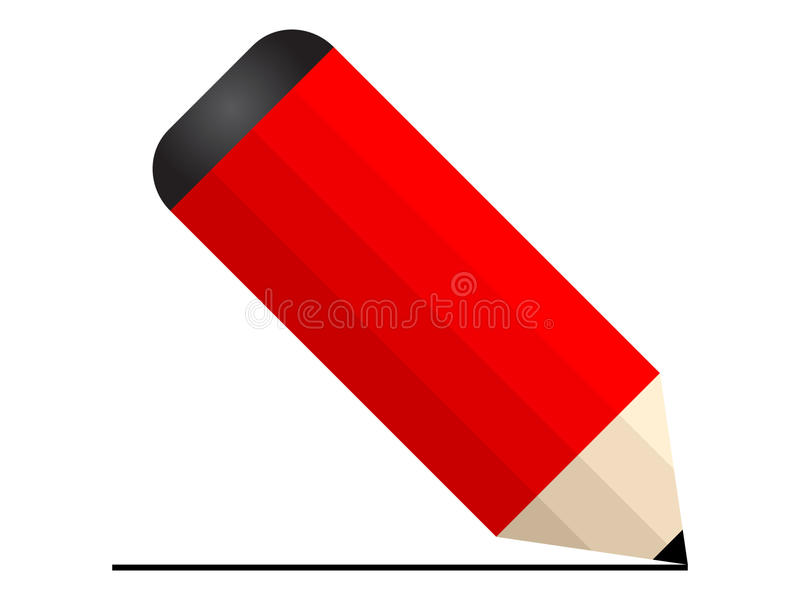 Het pictogram van het potlood vector illustratie