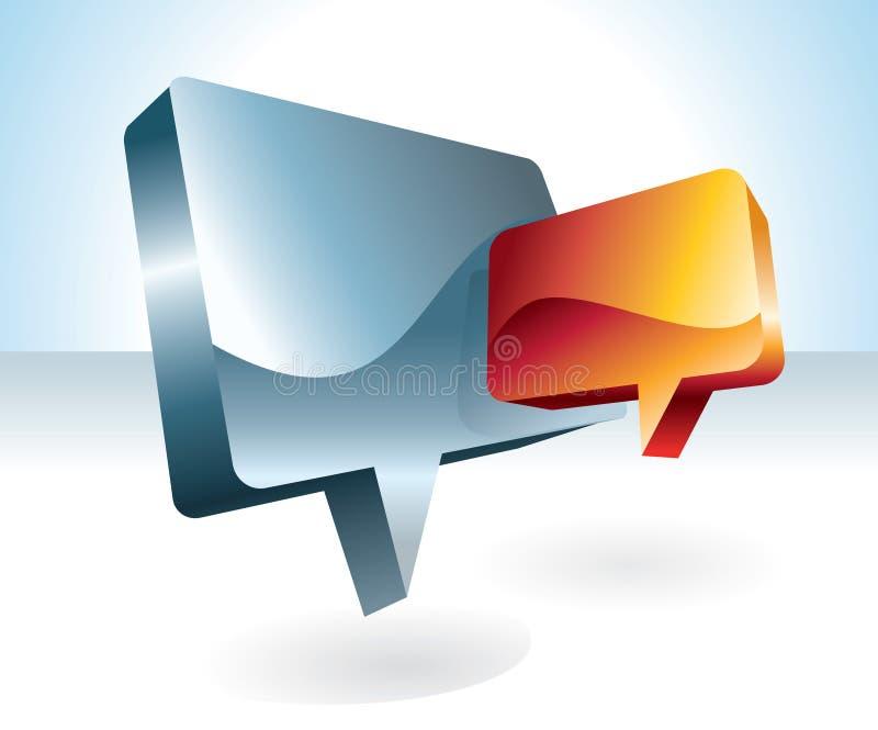 Het pictogram van het praatje vector illustratie