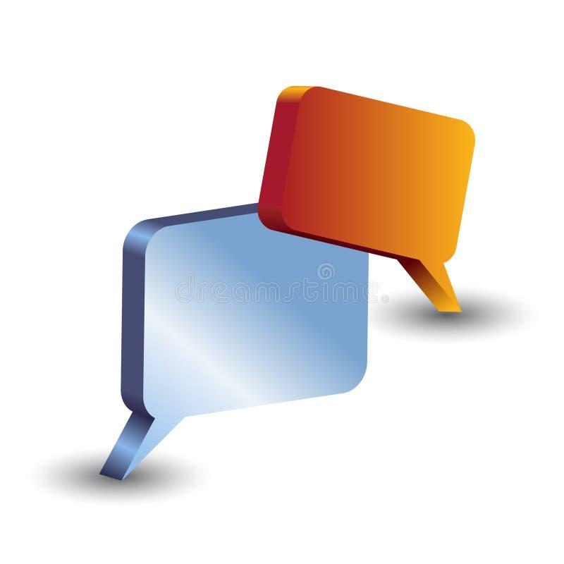 Het pictogram van het praatje stock illustratie