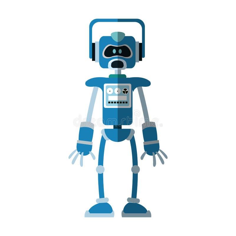 Het pictogram van het robotbeeldverhaal royalty-vrije illustratie