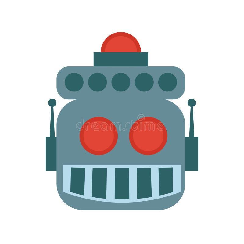 Het pictogram van het robotbeeldverhaal Machineontwerp Grafische vector vector illustratie