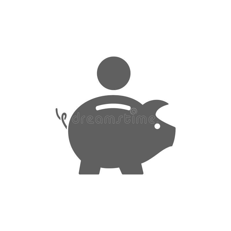 Het Pictogram van het spaarvarken stock illustratie