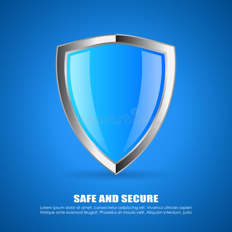 Het Pictogram van het veiligheidsschild royalty-vrije illustratie
