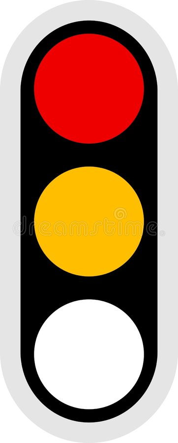 Het Pictogram van het verkeerslicht royalty-vrije illustratie