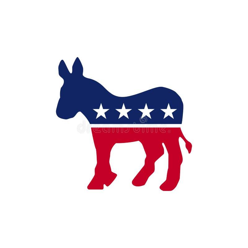 Het pictogram van het verkiezingsonderwerp stock afbeelding
