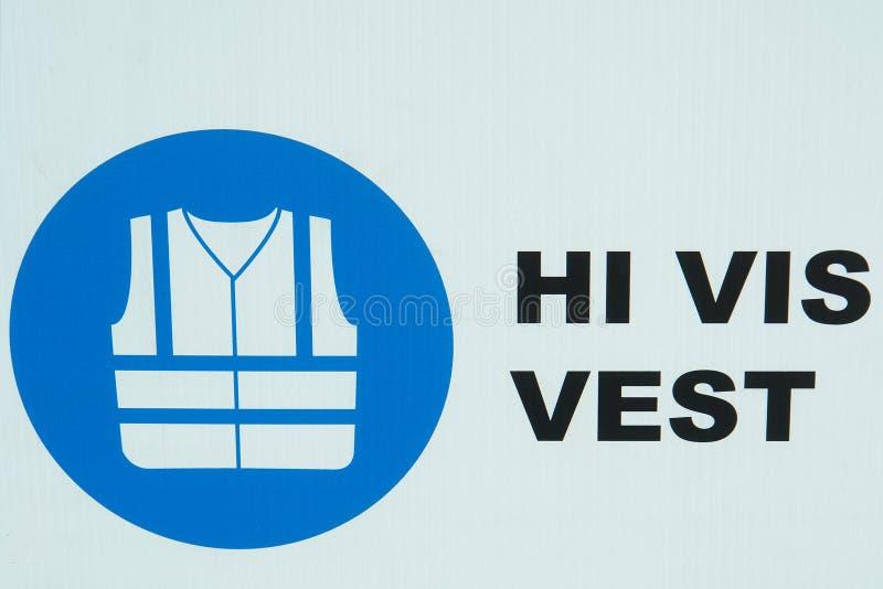 Het Pictogram van het Vest van de Veiligheid van de bouw royalty-vrije stock fotografie