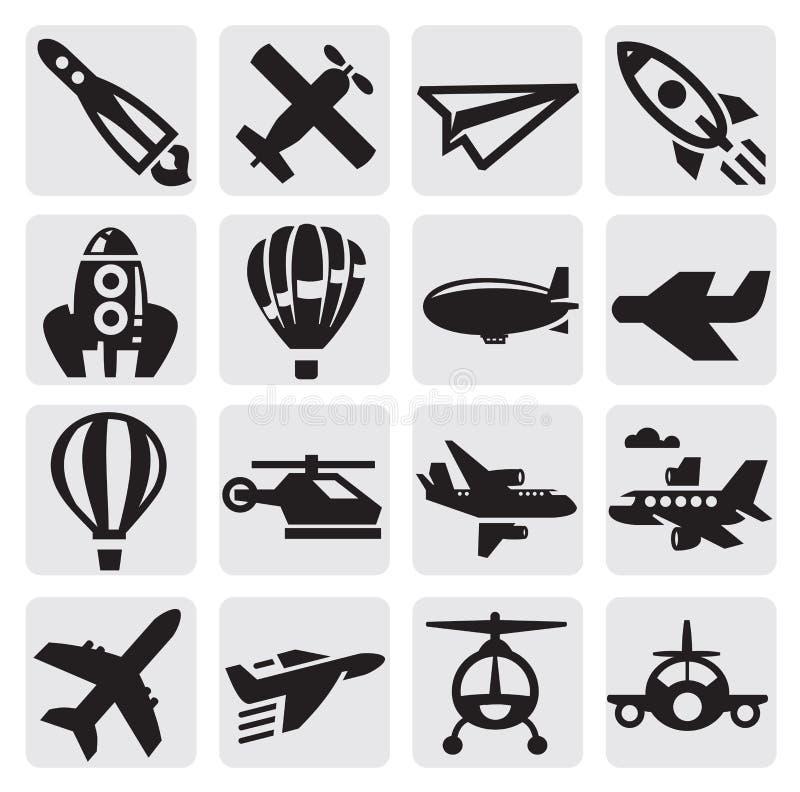 Het pictogram van het vliegtuig vector illustratie