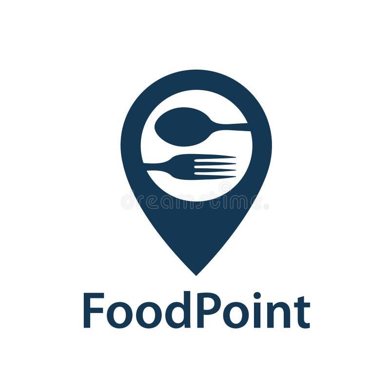 Het pictogram van het voedselpunt vector illustratie