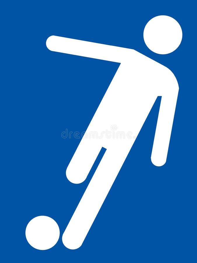 Het pictogram van het voetbal royalty-vrije illustratie
