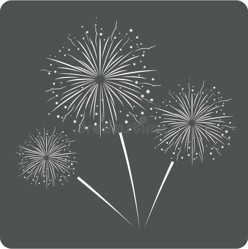 Het pictogram van het vuurwerkteken royalty-vrije illustratie